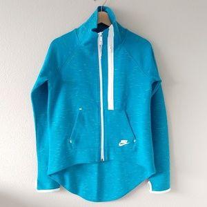 Nike Teal High Low Cape Sweatshirt Size S